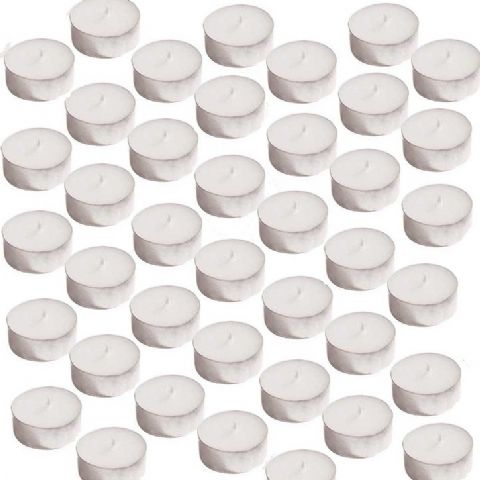 40 x Large Oversized Unscented Maxi Tealights - White